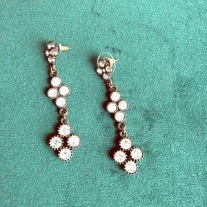 💎 Adorable Rhinestone Quatrefoil Earrings